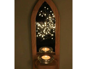 Wooden Candle Sconce