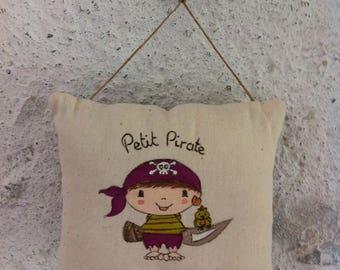 Door sign. Pillow Interior. Pattern: Little pirate