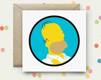 Homer Square Pop Art Card & Envelope