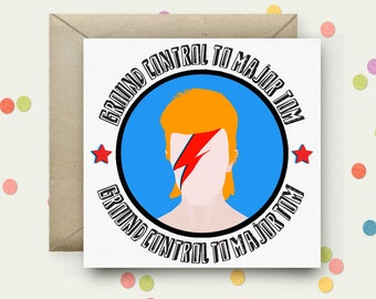 Bowie Square Pop Art Card & Envelope