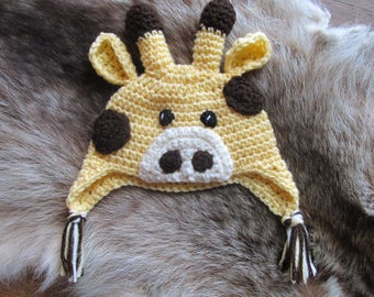Giraffe Hat, Crochet Giraffe Hat, Kids Hat, Photo Prop, Birthday Gift, Baby Shower Gift, Baby Hat, Character Hat, Animal Hat