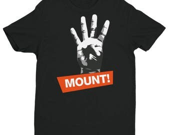4 points for the Mount Short Sleeve Brazilian Jiu Jitsu cotton T-shirt, BJJ, Grappling, nogi, Martial Arts and MMA various colors