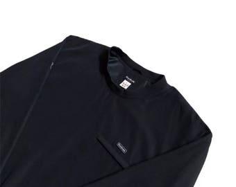 Reebok Windbreaker Sweatshirt navy blue 90s sportswear vintage mens small free uk postage