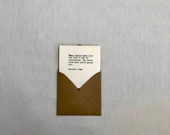 Forest Gump - mini card