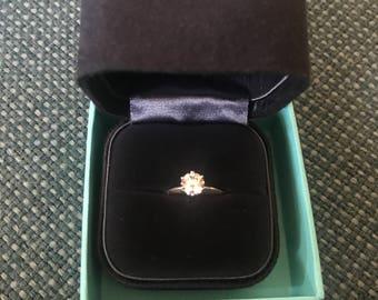 Tiffany setting platinum engagement ring .79ct - h - vs1