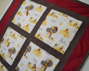 Window Into Pooh - Winnie the Pooh Baby Quilt