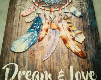 "Frame decorative ""Dream and Love"""