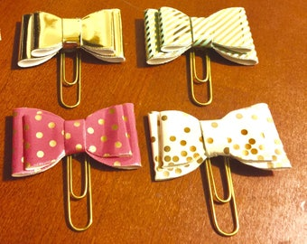 Gold Planner Clips on a Gold Paperclip; Page Marker; Journal Clip; for Traveler's Notebooks, Happy Planner, Erin Condren