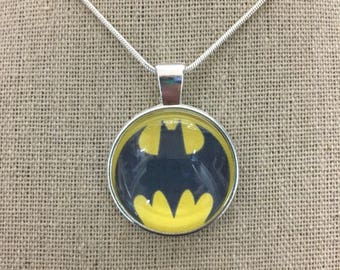 Batman pendant necklace.Batman charm necklace .Batman logo pendant .Batman jewelry .Batman charm