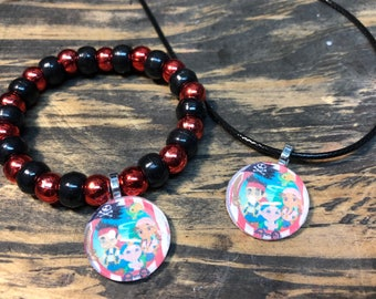 Jake and the Neverland pirates party favors.Jake and the Neverland pirates bracelet and necklace.Pirates party favors.Pirates birthday party