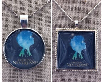 Broadway Musical Finding Neverland pendant. Peter Pan Musical pendant .Broadway musical keepsake.Broadway play Finding Neverland