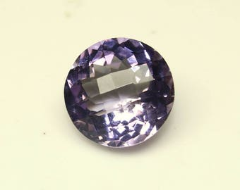 Natural Amethyst Round Faceted Checker Board Cut Size- 12x12x8 mm Purple Amethyst Code-HA26