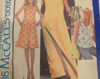 McCalls dress pattern 5092, Vintage McCalls dress pattern