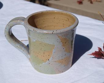 Leaf Imprint Mug, lilac