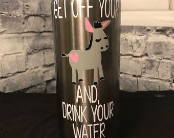 Motivational Donkey Stainless Steel Water Bottle