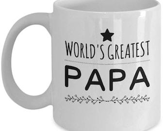 World's Greatest Papa Coffee Mug - Ceramic Tea Cup Gift for Papas
