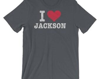 Retro I Love Jackson Wyoming Premium T Shirt, Distressed Tshirt