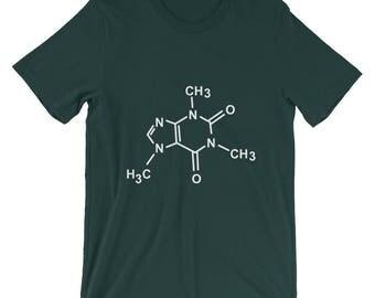 Caffeine Molecule Organic Chemistry T-Shirt Coffee Tee