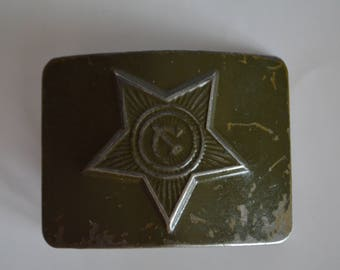 Soviet army soldier metal strap plate, ussr military strap plaque. Vintage Soviet Military Buckle.