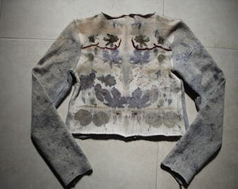 Eco Printing Woolen Sweater