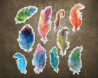 """Printed Chipboard Shapes #001 """"Feathers"""""""