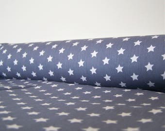 Coupon printed with white stars, 4 colors, 50 x 48 cm, fabric cotton