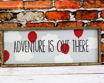 Adventure Is Out There Custom Nursery Decor Woodland Nursery Wall Art Baby Room Decor Baby Shower Gift Kids Room Decor Childrens Wall Art