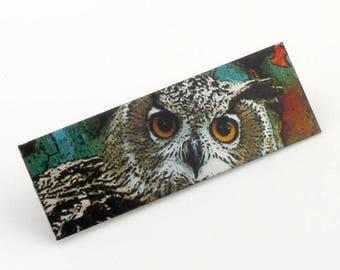 Owl Brooch - Rufus the Astute
