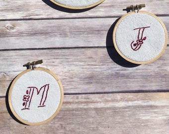 mini monogram embroidery hoops