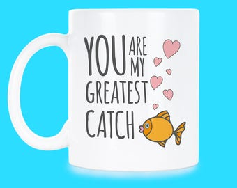 Cute Greatest Catch Greatest Catch Gift Shes A Catch Gift Keeper Catch Gift My Greatest Catch Shes A Catch Mug Keeper Catch Mug Valentine's