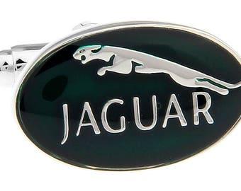 Jaguar  Manschettenknöpfe Cufflinks Gemelli Boutons de Manchette Logo Fan auto Accessories NEW