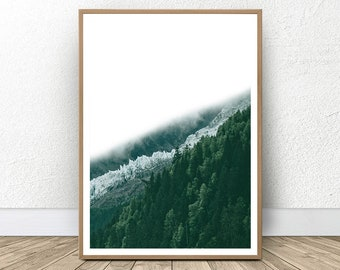 Forest Photography, Large Green Artwork, Forest Art, Bedroom Wall Art, Forest Decor, Gallery Wall, Housewarming Gift, Green Forest, Green