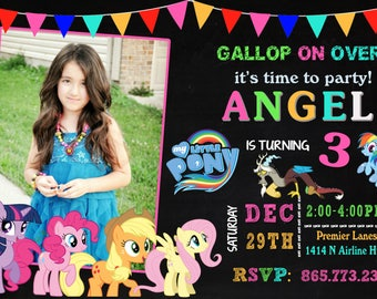 My Little Pony Invitation, My Little Pony Birthday, My Little Pony Invite, My Little Pony Party, My Little Pony Printable