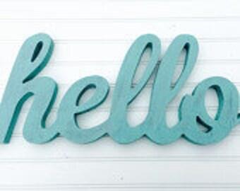 Hello Sign - Farmhouse Decor - Farmhouse Signs - Fixer Upper Decor - Hello Wall Decor - Wooden Signs - Gallery Wall Decor - Entryway Decor