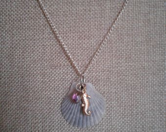 sea shell charm necklaces
