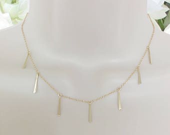 Fringe Necklace | Fringe | Sterling Silver Fringe Necklace