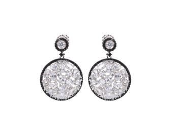 Drop Earrings | Statement Earrings | Drop Round Earrings