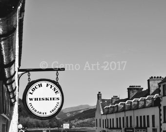 Black & White Print - Inveraray, Scotland