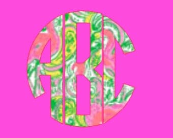 Lilly Pulitzer Custom Monogram Decal