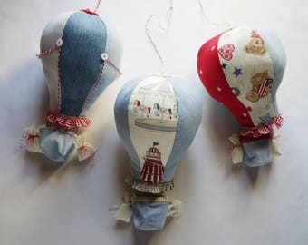 Hot air balloon baby mobile Jeans single air balloon Boy mobile