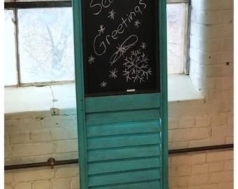 Reclaimed Antique Shutter chalkboard, repurposed, vintage
