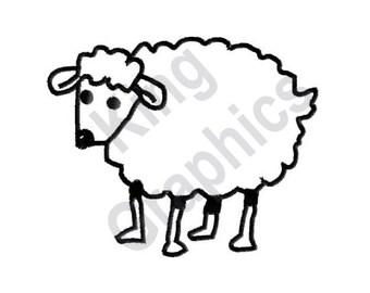 Lamb - Machine Embroidery Design, Sheep