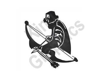 Bow Hunter - Machine Embroidery Design, Archer, Bow and Arrow