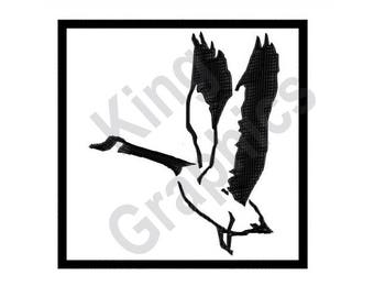 Goose Silhouette - Machine Embroidery Design, Goose