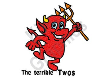 The Terrible Twos - Machine Embroidery Design