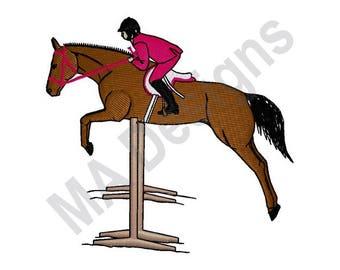 Horse Jumper - Machine Embroidery Design