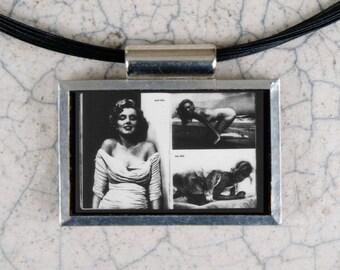 Marilyn Monroe Microfiche Necklace - Life Magazine 8-7-64
