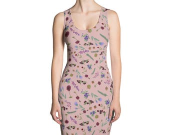 Autumn Floral Printed Dress