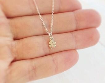 sterling silver four leaf clover necklace