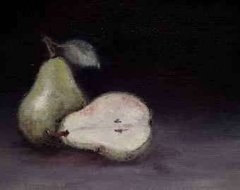 Pear, Original Oil Painting